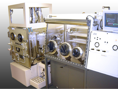 大型特殊真空蒸着装置合体型グローブボックスシステム